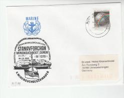 1995 GERMANY MINENSUCHBOOT DUREN M1079  COVER Illus SHIP & NATO EMBLEM  With MARINESCHIFFSPOST Pmk Stamps - NATO