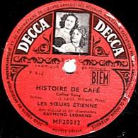 78 Trs 25 Cm état B - LES SOEURS ETIENNE - HISTOIRE DE CAFE - QUI SAIT... QUI SAIT... QUI SAIT... - 78 Rpm - Schellackplatten