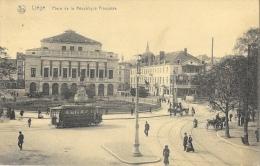Liège - Place De La République Française - Tramway Et Calèches - Carte Nels Non Circulée - Liege