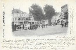 Liège - Boulevard De La Sauvenière - Tramway Hippomobile - Edition A L'Innovation - Carte Précurseur 1899 - Liege