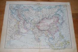Atlas Général De Justus Perthes 1885, Asie Carte Politique, Russie, Chine, Inde, Mongolie, Japon, Arabie, Siam, Etc.. - Cartes Géographiques