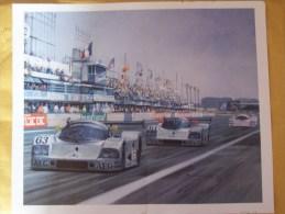 24 Heures Du Mans 1989  -  Team Sauber-Mercedes -  34 X 28 Art Print By Michael Turner - Le Mans