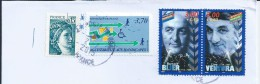 Actors Of Cinema And Theater. Stamps Of Lino Ventura And Bernard Blier. 2 Scans. - Cinema