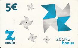 KOSOVO - Z Mobile Prepaid Card 5 Euro, Used - Kosovo