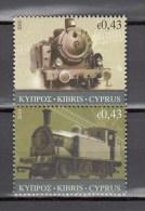Cyprus 2010,2V,trains,treinen,züge,trenes,treni,MNH/Postfris(A1732) - Treinen