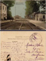 RUFFEY Les ECHIREY – Vue Intérieure De La Gare ( Cachet Militaire Franchise Postale ) - France