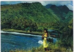 Cpm TAHITI PERLE DU PACIFIQUE Plage Et Vfallée De Vaiha - Polynésie Française