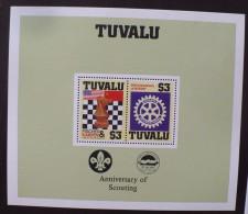TUVALU Echecs Echec Chess Ajedrez  Et ROTARY Bloc 2 Valeurs Yvert  BF 14** MNH - Echecs