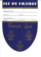 PAQUEBOT ILE DE FRANCE- FRENCH LINE