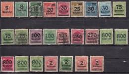 Série 1923  Surchargés 25 Valeurs - Oblitérés