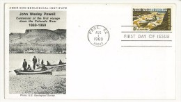 STATI UNITI - FDC - AMERICAN GEOLOGICAL INSTITUTE ANNO 1969 - PAGE AZ - JOHN WESLEY POWELL - Event Covers