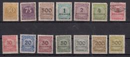 Série 1923  Filigrane B  14 Valeurs - Oblitérés