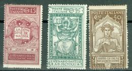 1921 VI Centenario Morte Dante Alighieri MNH** - 1900-44 Victor Emmanuel III