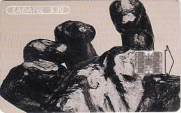 MEXICO - A.Rodin-Manos 1997/Gran Mano Crispada(4/6), chip SC7, 01/97, used