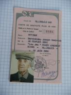 OLLIOULES - TRANSPORTS - CARTE DE GRATUITE 70 ans SICAT TOULON 1980