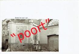 DOORNZELE - prachtige fotokaart met handschrift en handtekening van toenmalige E.H. Pastoor (1940)