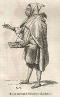 A5153 Venditore Di Fiammiferi Arabo - Xilografia Antica Del 1843 - Engraving - Estampes & Gravures