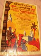 Affiche Centenaire de l'Algerie-1830-1930.( Grandes F�tes Sahariennes)