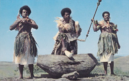 FIJI, 1940-1960's; Beating The Lali, The Wooden Drum - Fiji