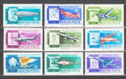 Hungary 1962 Ungarn Mi 1846-1854 Aerobatics Championships: History Of Aviation / Geschichte Der Luftfahrt **/MNH - Vliegtuigen