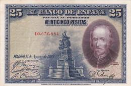ESPAÑA DE 25 PTAS DEL AÑO 1928 - [ 1] …-1931 : Primeros Billetes (Banco De España)