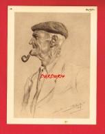 Publicité + Personnage De Régions Diverses ... Dessinateur ... Illustrateur J. SCHERBECK ... Homme ... Pipe ...(n°16) - Reclame