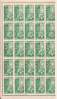 _5Vv-979: N° Mi101  : ** : Blok V. 25 Zegels.... Postfris:...= ½ Blad - 1943-45 Shanghai & Nanjing