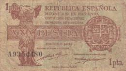 Republica Espanola  1 Peseta Peseta De 1937 - [ 3] 1936-1975 : Régence De Franco