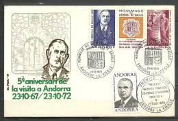ANDORRA- F.D.C. ESPECIAL GENERAL DE GAULLE Y GEORGES POMPIDOU (C-S-3-C.07.15. - FDC