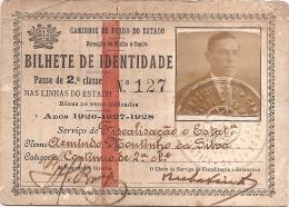 CAMINHOS DE FERRO DO ESTADO -PASSE DE 2.CLASSE NAS LINHAS DO ESTADO   ANOS 1926-1927-1928