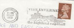 1991 COVER Slogan VISIT INVERNESS CASTLE  Gb  Stamps - Castles