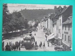 CHAUDESAIGUES  Arrivée De L´autobus Place Du Gravier L´Auvergne Pittoresque 1917 - France
