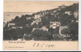 BLANKENESE - GRUSS AUS - 1905 POSTCARD Sent To BELGIQUE - Blankenese