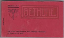BETHUNE ALBUM 24 CPA DETACHABLES AVEC NOTICE HISTORIQUE ET PLAN DE LA VILLE - Bethune
