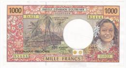 Polynésie Française / Tahiti - 1000 FCFP - D.023 / Signatures Pouilleute / Redouin / Teyssere / RARE - Papeete (French Polynesia 1914-1985)