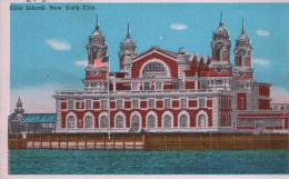 POST CARD ELLIS ISLAND, NEW YORK CITY - Ellis Island
