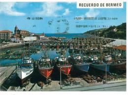 # CARTOLINA SPAGNA – BERMEO – PUERTO VIAGGIATA 1974 VERSO VARALLO SESIA – INDIRIZZO OSCURATO PER PRIVACY CONDIZIONI BUON - Spagna