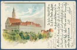 Donauwörth Das Cassianeum Schule Und Erziehungsanstalt, Gelaufen 1900 (AK201) - Donauwörth