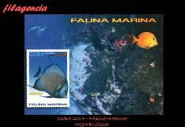AMERICA. CUBA MINT. 2014 FAUNA MARINA. HOJA BLOQUE - Cuba