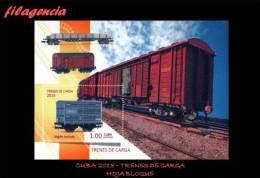 AMERICA. CUBA MINT. 2015 TRENES DE CARGA. HOJA BLOQUE - Cuba
