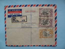 Enveloppe JOS- FORT LAMY   29 Mars 1954 - Nigeria (...-1960)