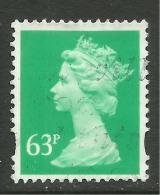 GB 1996 QE2 63p Light Emerald Machin SG Y1732.( E813 ). - 1952-.... (Elisabeth II.)