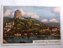 REGENSBURG WALHALLA UND BEFREIUNGSHALLE - Painted - Regensburg