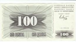 Bosnia Herzegovina Hercegovina #13 100 Dinara 1992 Banknote Currency Money - Bosnia And Herzegovina