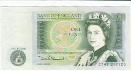 United Kingdom Great Britain #377b 1 Pound 1981-84 Banknote Currency Money - 1952-… : Elizabeth II