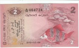 Sri Lanka #83 2 Rupees 1979 Banknote Currency Money, Fish Butterfly - Sri Lanka