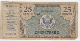 USA #M17 25 Cents 1948 Series #472 Military Payment Certificate Currency Money