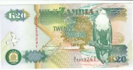 Zambia #36a 20 Kwacha, 1992 Banknote Currency Money, Bird - Zambia