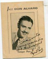 """AUTOGRAFO DÉDICACÉ """"ENRIQUE PAEZ"""" JAZZ DON ALVARO SINGER CANTANTE VINTAGE SIGNATURE EXCLUSIVE GECKO - Autographs"""