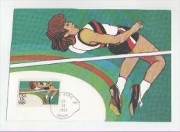 USA Maxikarte Ersttagsbeleg Olympische Spiele Los Angeles 1984(Hochsprung) - Zomer 1984: Los Angeles